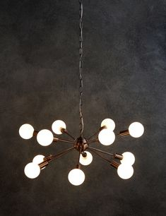 Dexter Copper Sputnik Ceiling Pendant - Marks & Spencer - a bit of WOW maybe too much? Mid Century Chandelier, Sputnik Chandelier, Ceiling Pendant, Ceiling Lights, Chandeliers, Light Fittings, Light Fixtures, Lounge Lighting, Mid Century Modern Lighting
