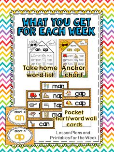Words for the Week Spelling Unit PREVIEW!!!