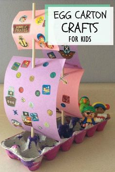 Egg Carton Crafts For Kids: Here are 3 very easy to make and beautiful to look at egg carton #crafts for kids, that will surely bring out your child's creativity. #kidscrafts