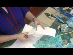 Missouri Star Quilt Co. tutorial - Machine Applique - Baby Sailboats Using a Jellyroll