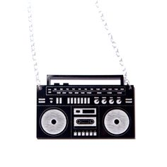 Boombox Acrylic Necklace
