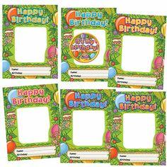 Happy Birthday Monkeys Frame Accents by Edupress $4.99