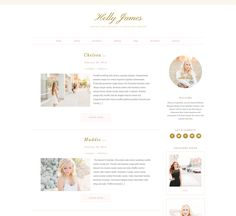 Holly ProPhoto Blog Design by Seaside Creative
