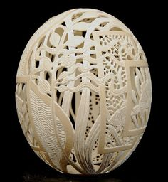 Designs for Egg Carving Art | No, it's not a gourd.....