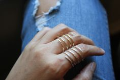 14k Spiral Ring | BRIKA - A Well-Crafted Life