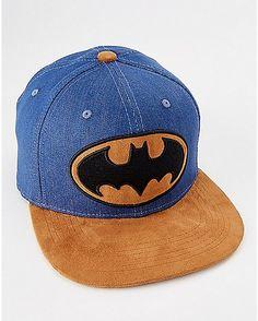Denim Batman Snapback Hat - DC Comics - Spencer's