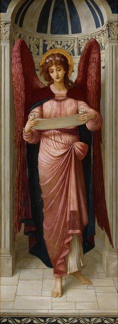 John Melhuish Strudwick 1895 Angel with a scroll