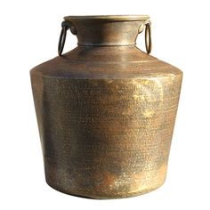 19th Century Large Brass Planter