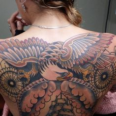 eagle back tattoos