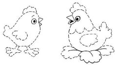 соедини точки курица