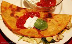 Spinach Mushroom Artichoke Quesadilla – {Meatless Monday & Five Ingredient Friday}