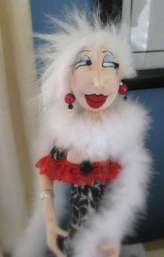 These Art dolls are almost caricatures of people, just only 16 inches tall (… Caricatures, Little People, Wells, Birch, Art Dolls, Bodies, Knit Crochet, Halloween Face Makeup, Sew