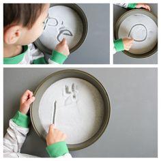 Five Snowy Fun Kid Activities (especially love the salt-a-sketch) at delia creates