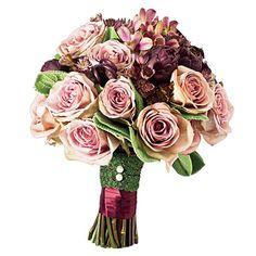 ovando amnesia roses, calla lilies, lambs ear, fiddle head fern - Google Search