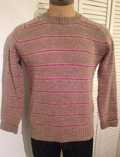 Vintage MENS Fieldgear Shetland Wool striped by pandaJpanda, $28.00