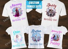 Frozen 2 Family Birthday Shirts | Frozen 2 Birthday Party Ideas | Twistin Twirlin Tutus  #frozen2 #frozen2birthday #twistintwirlintutus  www.TwistinTwirlinTutus.com