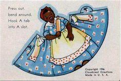 Mammy wrap-around paper doll