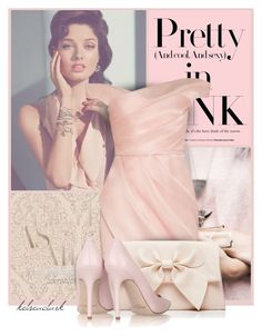 #3 Pretty in Pink by kelseaclark on Polyvore featuring polyvore, fashion, style, Lela Rose, Jimmy Choo, Forever New, GUESS, clothing, Pink, Model and Showthetrueyou