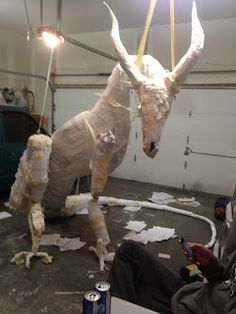 Making my 10 foot prop dragon!