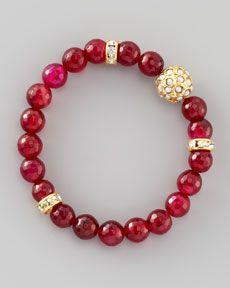 Y1HPQ Les Amis Dhol Jaali Beaded Bracelet, Pink