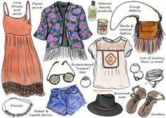 How to Do Boho Style -great for people like me who don't understand how to assemble clothe ensembles;) ha. yep this is perfect for people with fashion deficiencies.