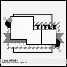 Scrap Paper Scissors etc.: Sketch-y Friday at Scrapmuch? - Oh Charlie! Scrapbook Patterns, Scrapbook Layout Sketches, Scrapbook Templates, Scrapbook Designs, Card Sketches, Scrapbook Albums, Scrapbooking Layouts, Scrapbook Cards, Filofax