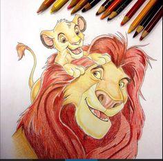 Disneyfiguren tekenen lion king