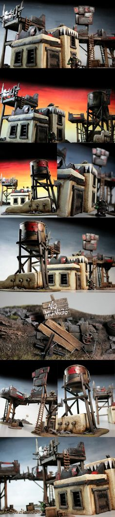 Custom, Ork Village, Ork Village Set, Orks, Terraformer, Terrain, Village