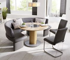 Tomato curved dining bench system