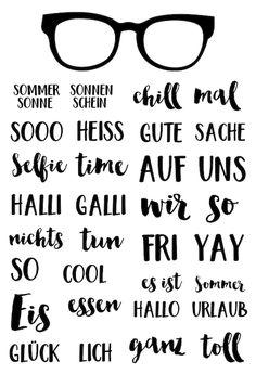 """Klartext-Stempelset """"Halli Galli"""" von www.danipeuss.de"""