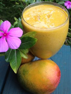 Raw Mango Lassie Smoothie- Boost your energy levels, help clear up your skin and alkalize your body with this incredible raw vegan recipe. Check out my new website with this updated recipe and photo at: http://happyandraw.com/raw-mango-lassi/