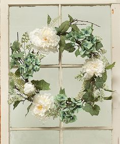 Another great find on #zulily! Riviera Peony & Hydrangea Foliage Wreath #zulilyfinds
