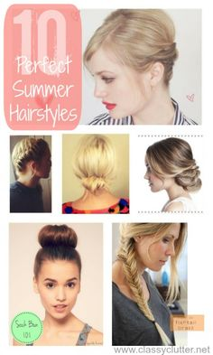 10 Adorable Hairstyles for Summer - www.classyclutter.net