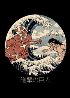 Japanese Art Modern, Japanese Artwork, Japanese Graphic Design, Attack On Titan Tattoo, Attack On Titan Anime, Animes Wallpapers, Cute Wallpapers, Aesthetic Art, Aesthetic Anime