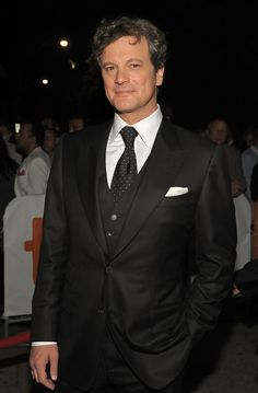"Actor Colin Firth arrives at the ""A Single Man"" screening during the 2009 Toronto International Film Festival held at the Isabel Bader Theatre on September 14, 2009 in Toronto, Canada.  (September 13, 2009 - Source: C.J. LaFrance/Getty Images North America)"