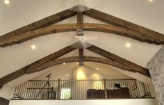 Unique Loft in our Discovery Dream Homes Stoney Lake Home #Log #Timberframe #Custom #StoneyLake #Loft #DiscoveryDreamHomes