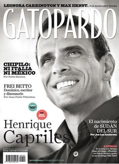 Portada del mes de octubre de la revista Gatopardo @hcapriles