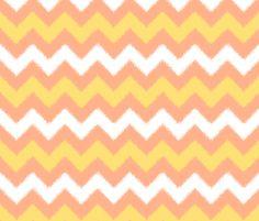 Orange Cream Popsicle Chevron Ikat fabric by Frida Barlow Design on Spoonflower - custom fabric / wallpaper / decal / gift wrap
