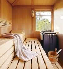 I have always loved a hot sauna. This is a Klafs Infra Red and outdoors! Probably not for my Az. backyard though!