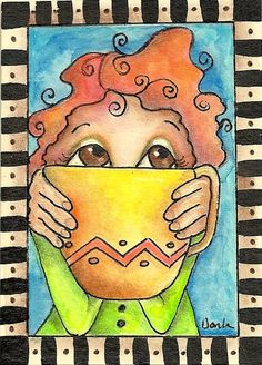 morning ritual/ Don't talk to me yet.....I have not finished my coffee! ;^)