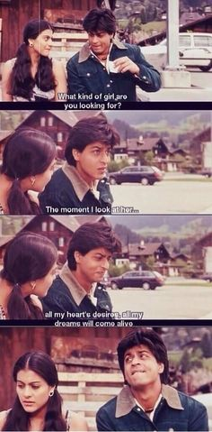 Shahrukh Khan and Kajol - DDLJ one of my MOST favorite bollywood movies of all time! Bollywood Quotes, Bollywood Couples, Bollywood Stars, Shahrukh Khan And Kajol, Shah Rukh Khan Movies, Aamir Khan, Indian Celebrities, Bollywood Celebrities, Bollywood Actress