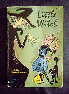 Vintage Children's Halloween Book - Little Witch - 1966.