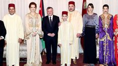 Royalties of Morocco and Jordan Adele, Lalla Salma, King Abdullah, Queen Rania, Moroccan Caftan, Princess Of Wales, Bridesmaid Dresses, Wedding Dresses, Royalty