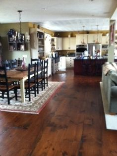 A beautiful Wide Plank White Pine Floor