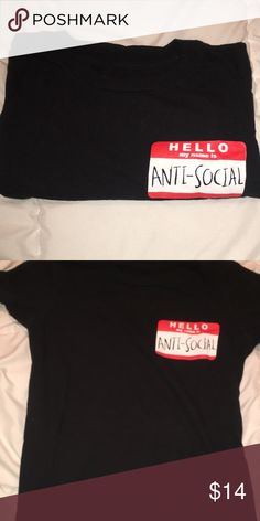 Hot Topic Anti Social T-shirt only worn a few times, good condition Tops