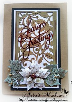 Hello everyone, welcome and thanks for dropping by.  I am still in full Christmas card making mode, and today I have a special card with a t...