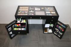 The Black EZ View Desk is designed for the most stylish and organized way to craft.