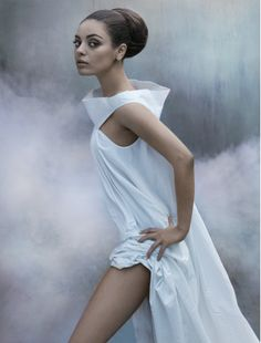 obsessed with this editorial featuring Mila Kunis in Camilla and Marc Astaire, Viktor & Rolf, Rick Owens, Georges Hobeika, Christian Dior... beautiful