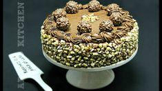 Reteta pentru tort Ferrero Rocher, un tort delicios - retete de tort Adygio. Ferrero Rocher, Romanian Desserts, Choux Pastry, Coco, Nutella, Acai Bowl, Biscuit, Sprinkles, Cake Recipes