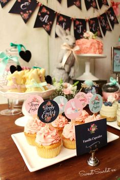 Loving the gorgeous cupcakes at this Rustic Easter Party! See  more party ideas and share yours at CatchMyParty.com